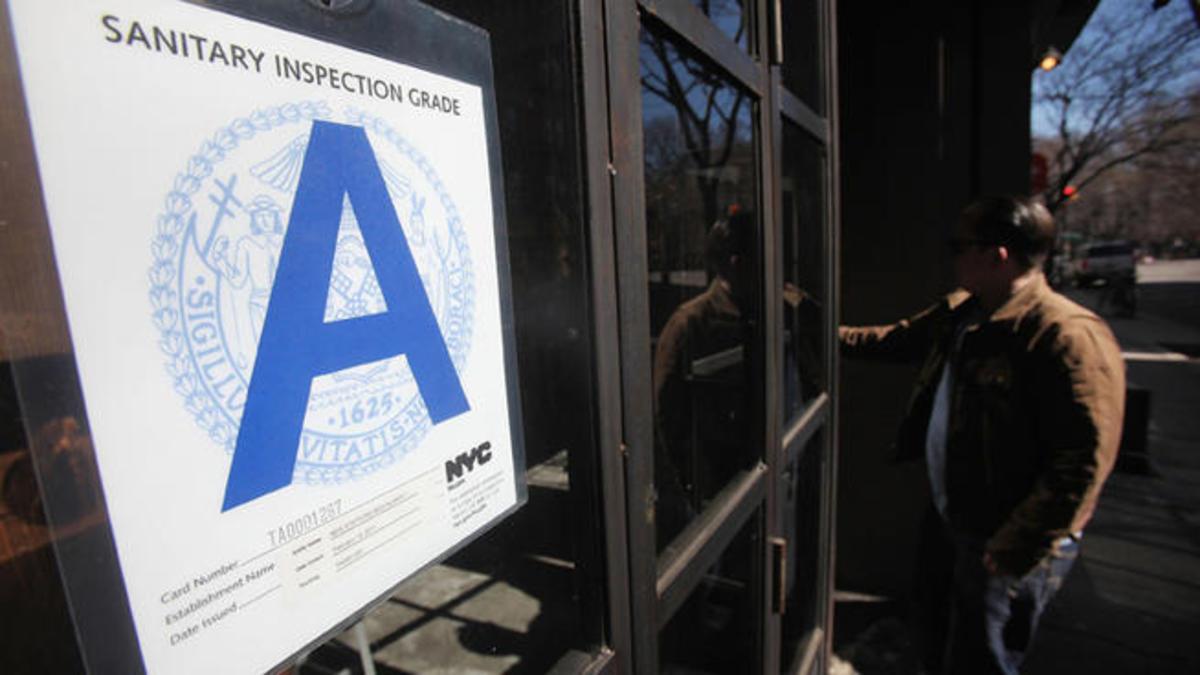 Calificación sanidad restaurantes Nueva York
