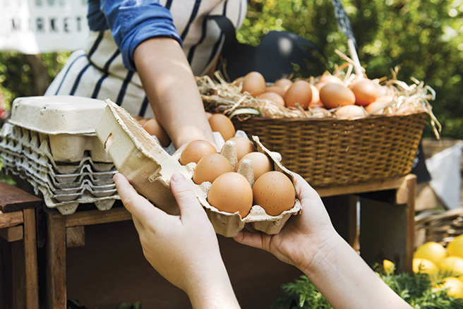 Huevos al granel