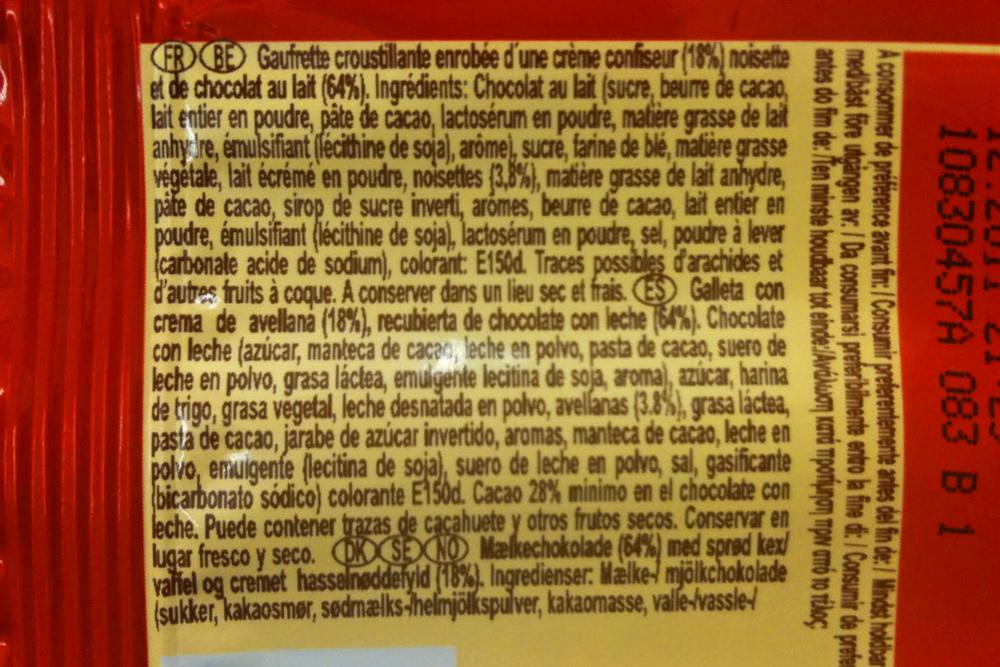 Ley de etiquetado antes de 2011