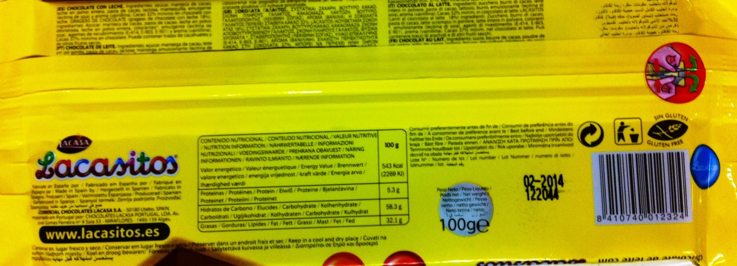 Etiqueta ilegible alimentos