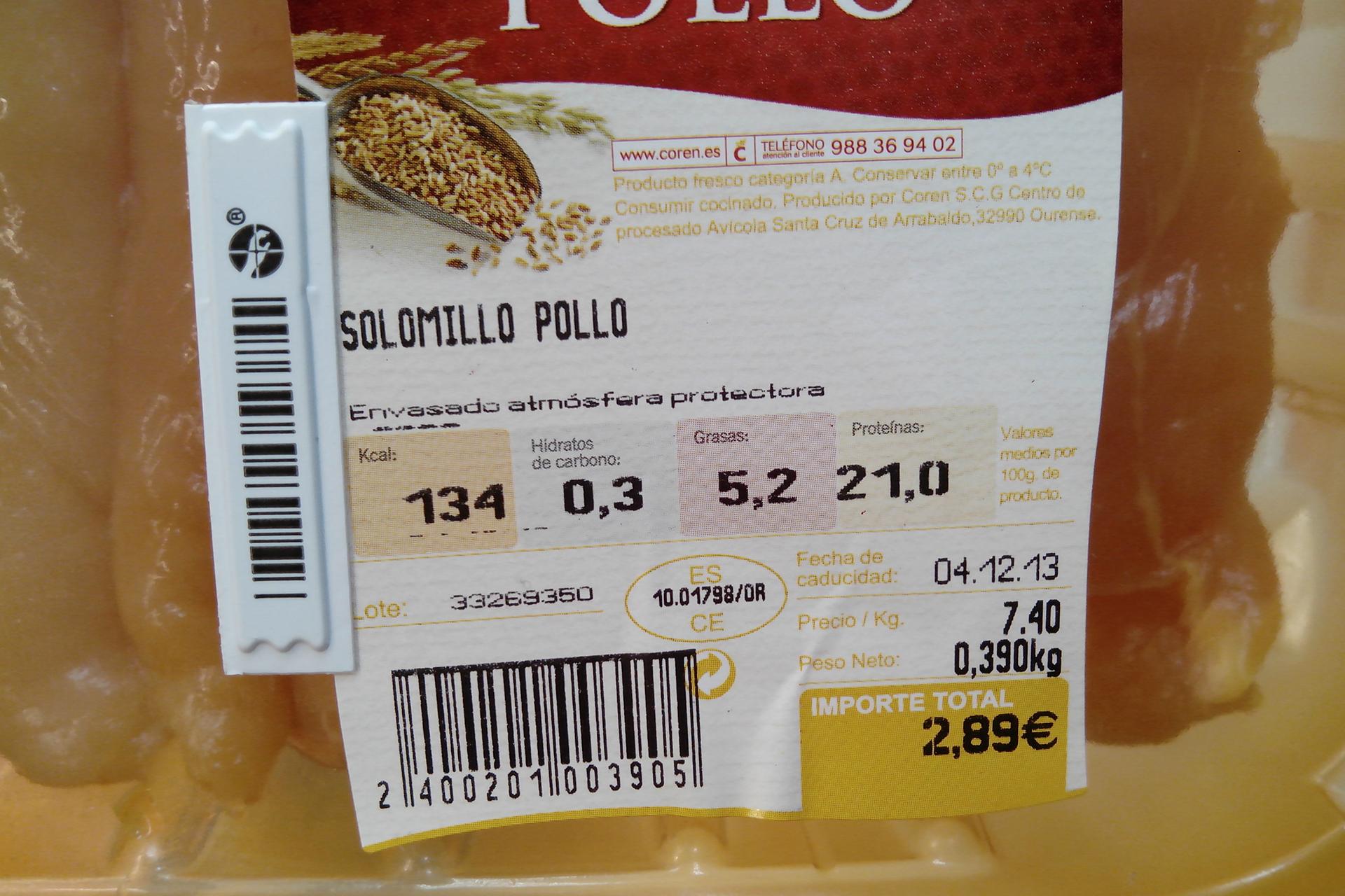 Etiquetado de pollo antes de la ley de 2011